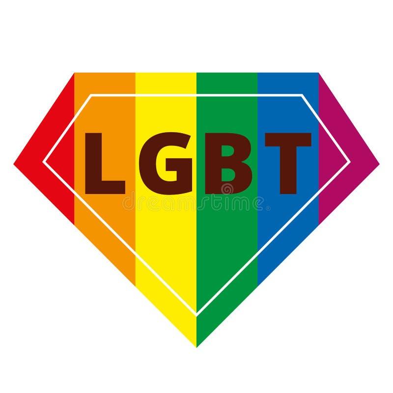 LGBT rainbow symbol vector illustration