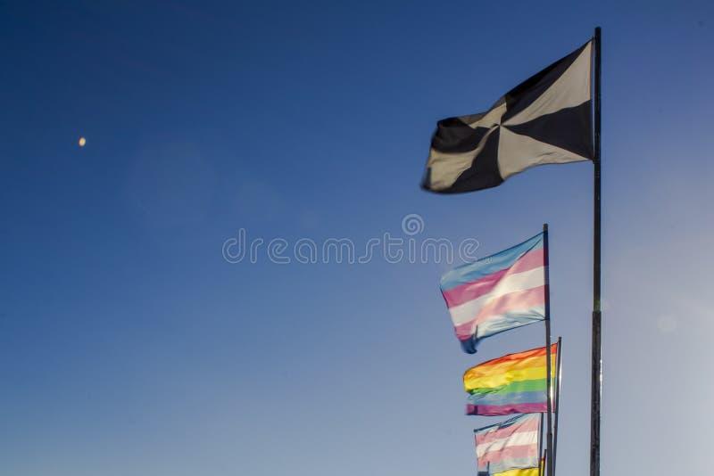 LGBT-Regenbogen-Stolzflaggen lizenzfreies stockbild