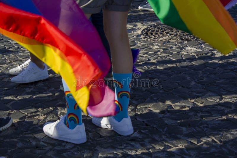 LGBT-Regenbogen-Stolzparade lizenzfreie stockbilder