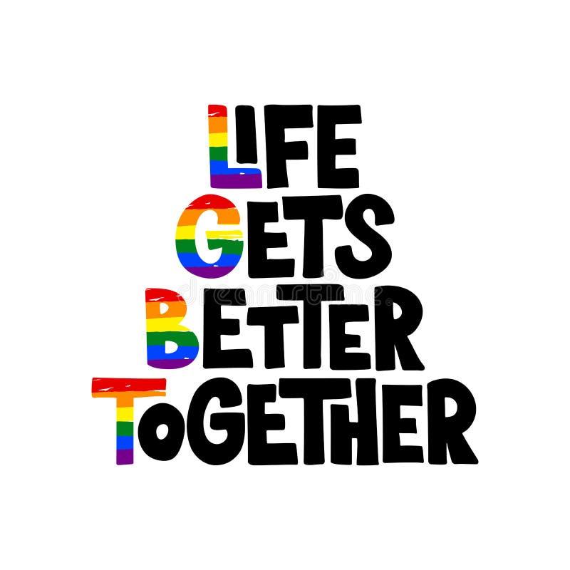 LGBT som märker typografi royaltyfri illustrationer