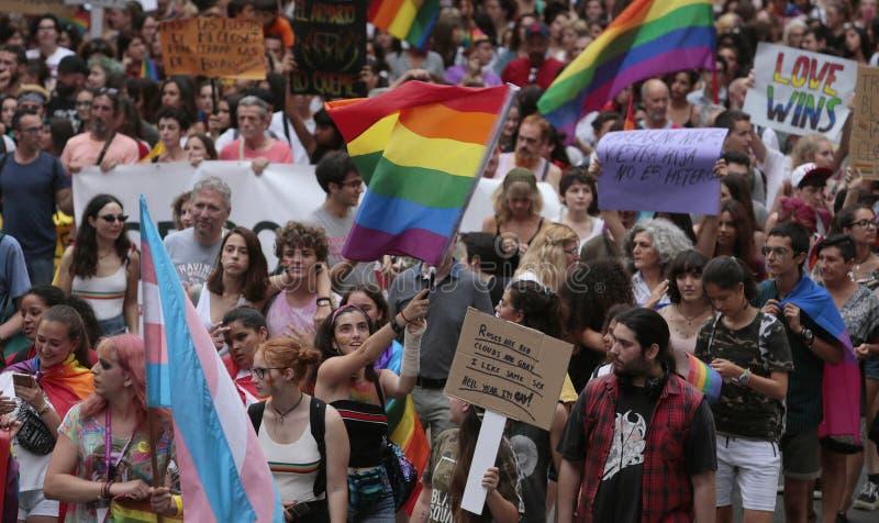LGBT-trotsvieringen in de algemene mening van Mallorca royalty-vrije stock afbeeldingen