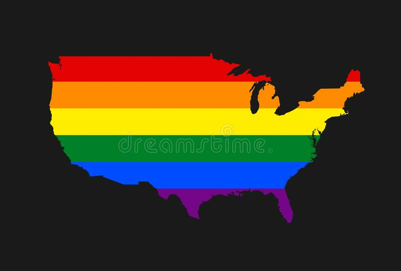 LGBT United states of America vector illustration