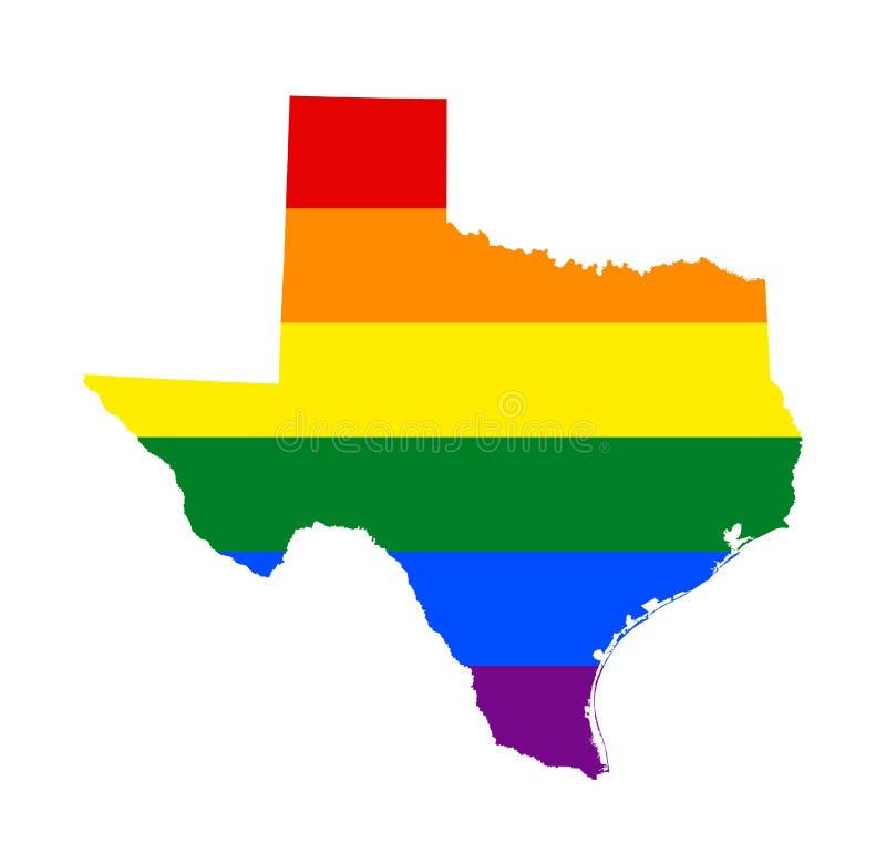 LGBT-vlagkaart Vectorregenboogkaart in kleuren van van de lesbische, vrolijke, de biseksuele, en vlag de transsexueeltrots van LG royalty-vrije illustratie