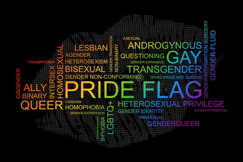 LGBT words in vector format. royalty free illustration