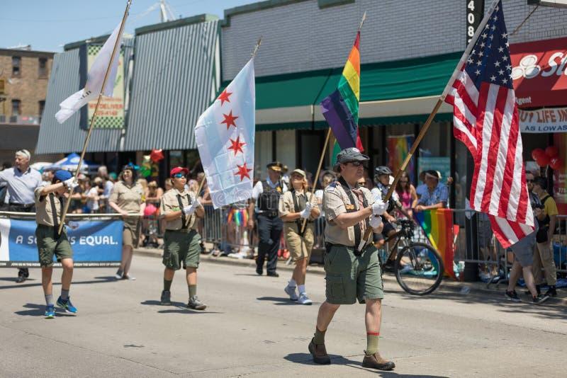 LGBTQ Pride Parade 2018 stockbilder