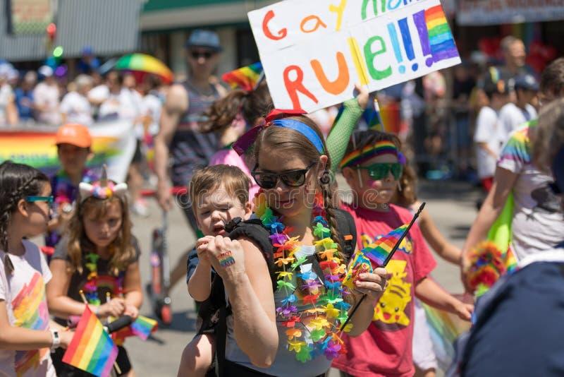 LGBTQ Pride Parade 2018 fotografia stock libera da diritti