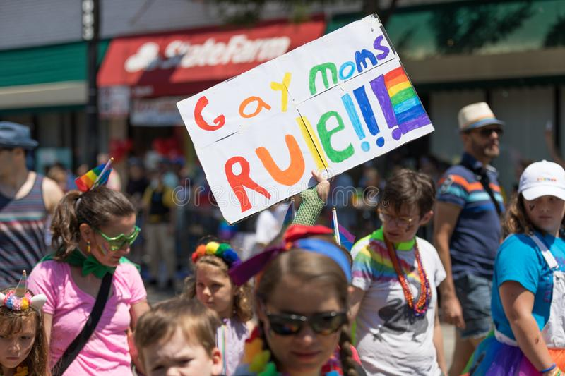 LGBTQ Pride Parade 2018 photo stock