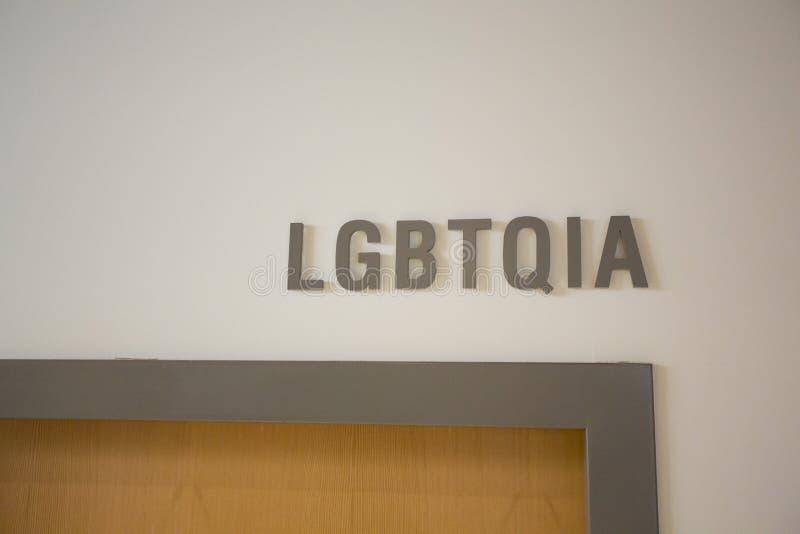 LGBTQIA Office at School stock photography