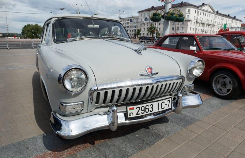 Lght gray GAZ M21 Volga stock photos