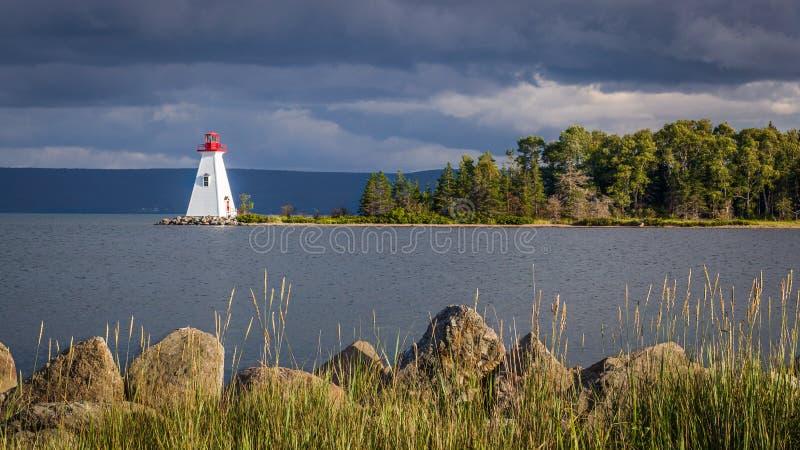 Lghthouse in Nova Scotia royalty free stock photos