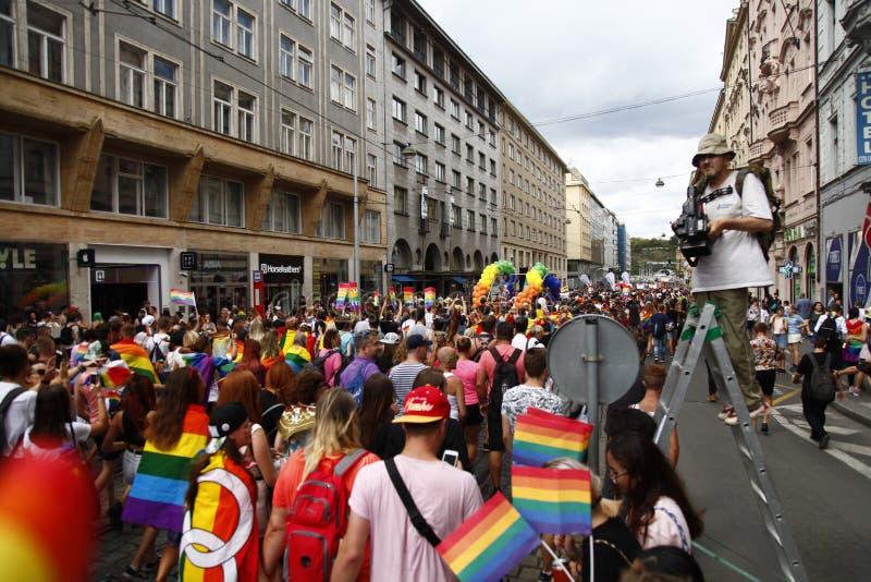 Prague / Czech Republic -August 11. 2018 : LGBT Pride March stock photos