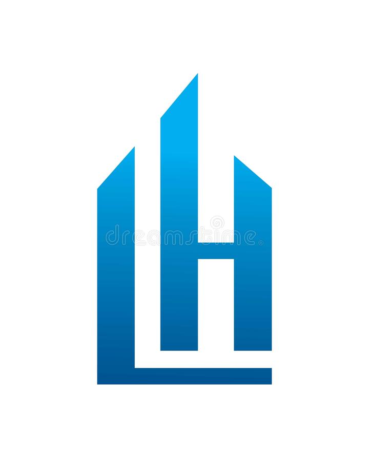 LH Initials Logo royalty free stock images