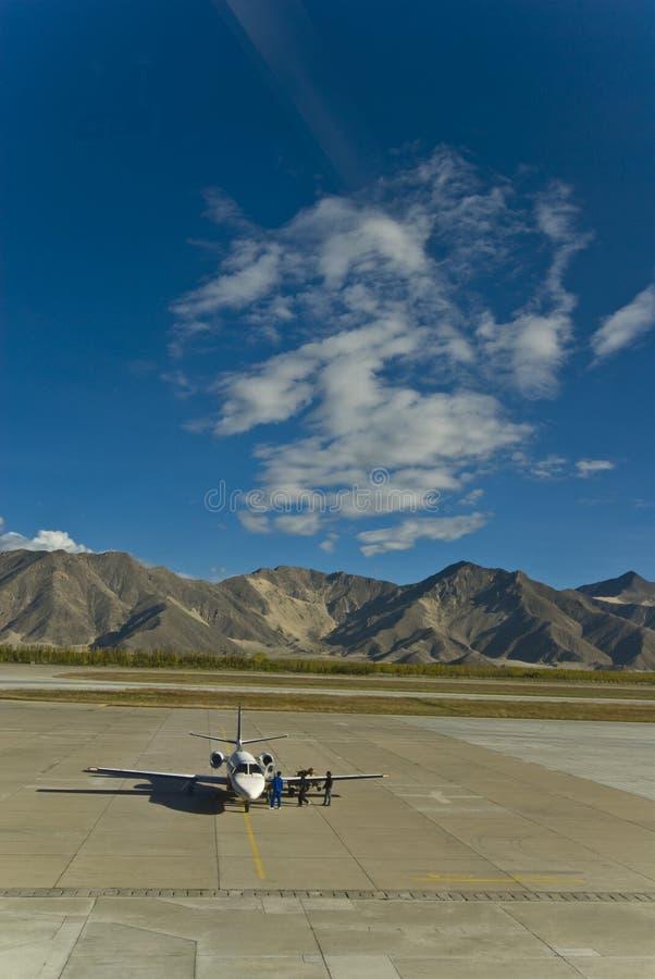 Lhasa Airport royalty free stock photos