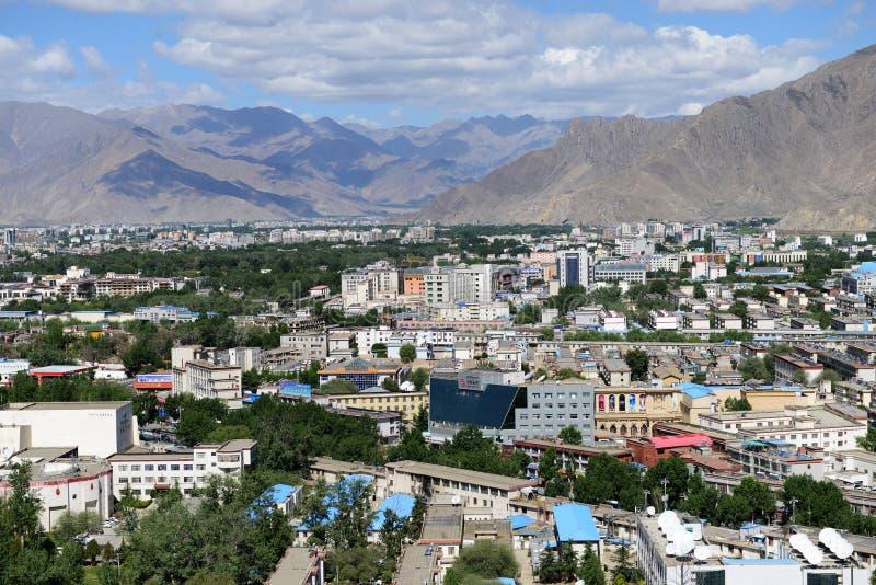 Lhasa city stock image