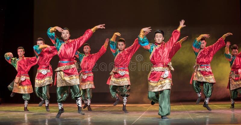 Lhasa Gaisang-Chinese medborgarefolkdans fotografering för bildbyråer