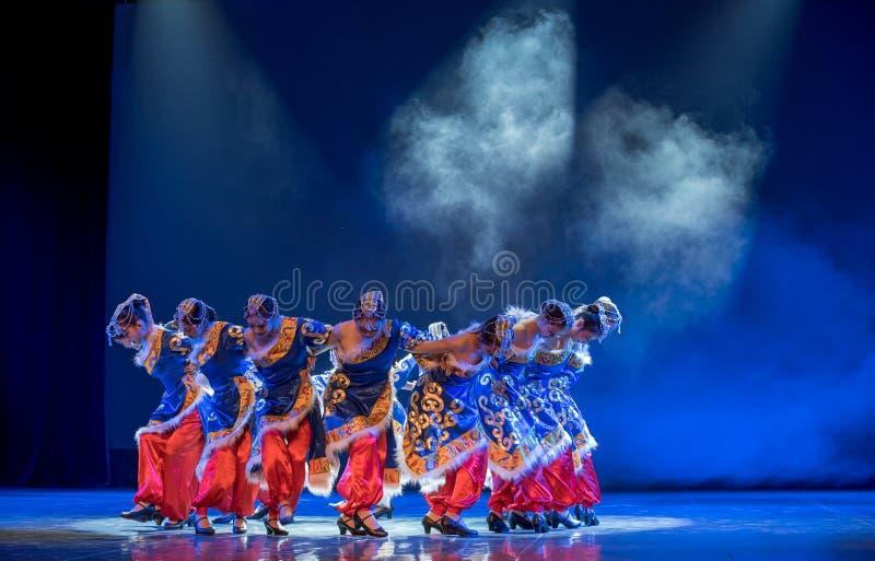Lhasa Gaisang-Chinese medborgarefolkdans arkivfoton