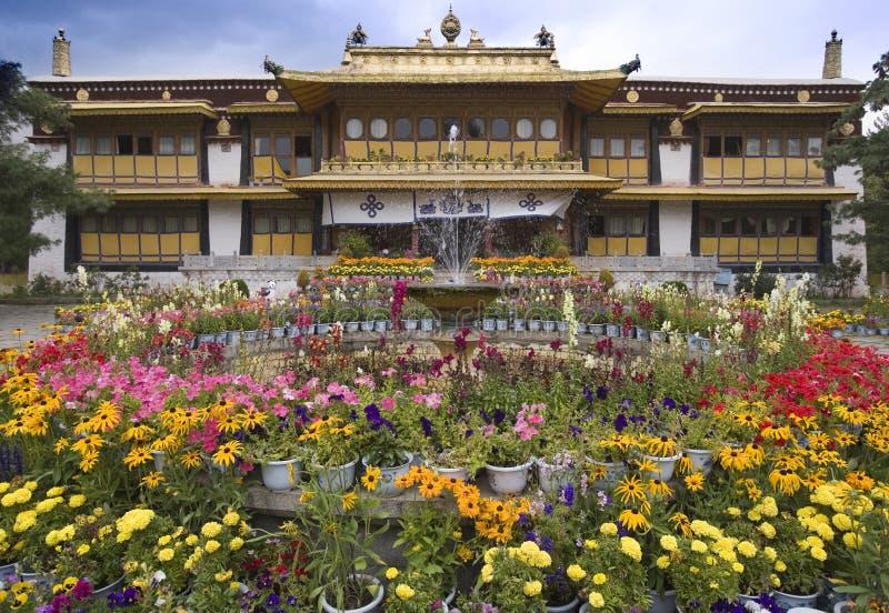Lhasa - le Thibet - palais d'été du lama de Dali image libre de droits