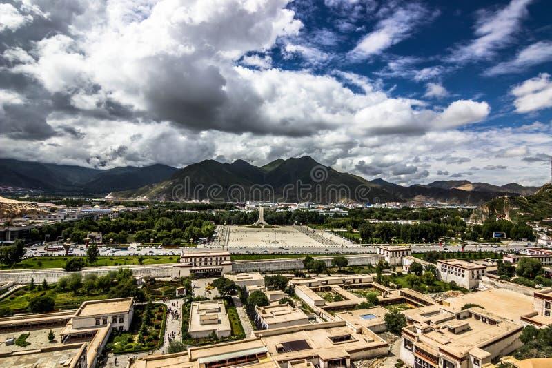 Lhasa od Potala pałac, Tybet zdjęcia stock