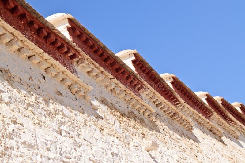 lhasa pałac potala Tibet ścienny biel obraz stock