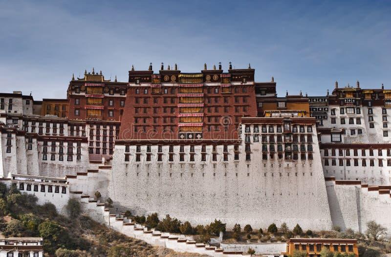 lhasa slottpotala royaltyfri fotografi