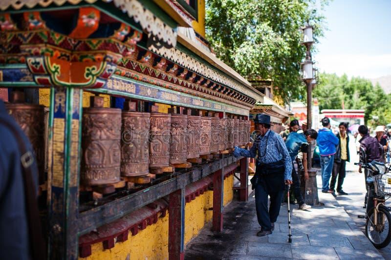 Lhasa Tibet China fotografering för bildbyråer