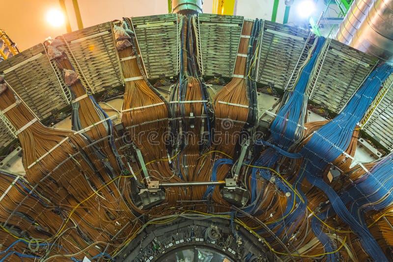 Lhcb detector in cern, geneva royalty free stock photos