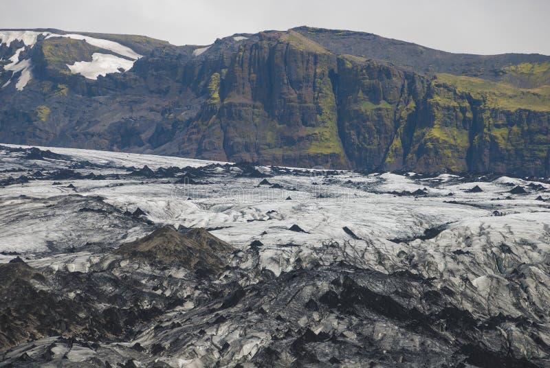 Lheimajökull del ³ dell'Islanda Sà fotografia stock libera da diritti