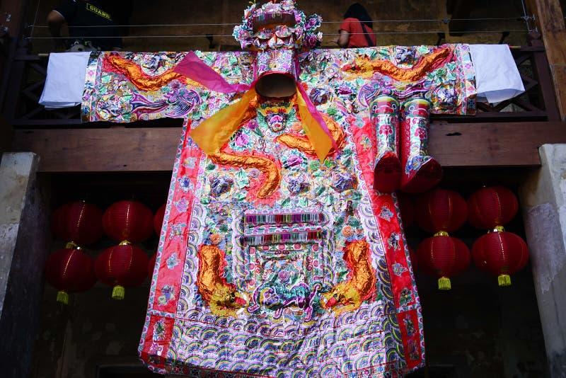 Lhong 1919年,装饰的大中国式褂子 免版税库存图片