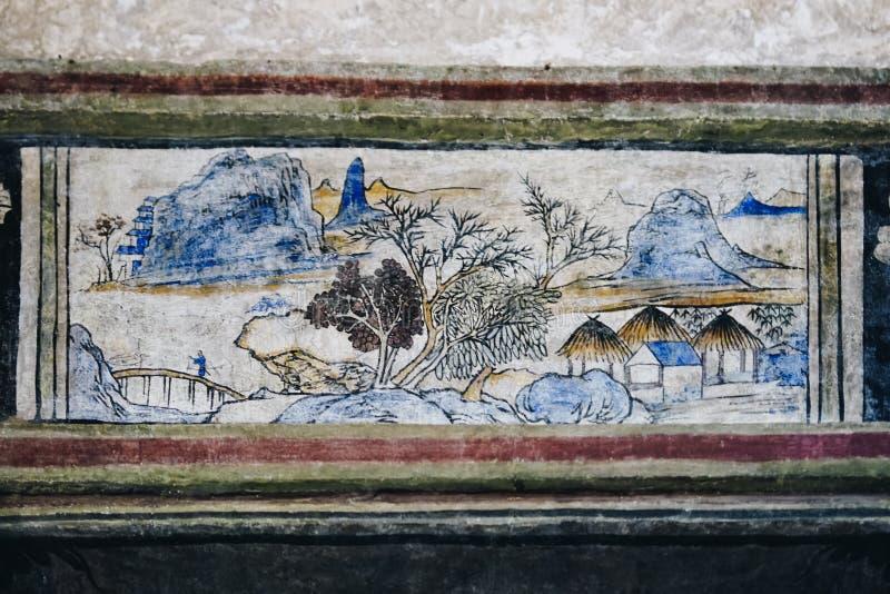 Lhong 1919, 100 jaar muurschildering het schilderen op de muur stock foto