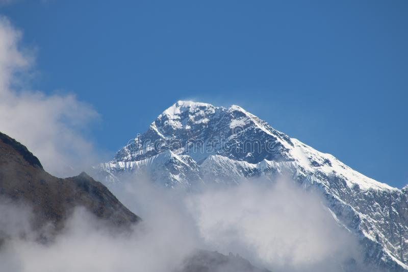 Lhotse is the fourth highest mountain in the world at 8,516 metres in Nepal. Lhotse is the fourth highest mountain in the world at Nepal 8,516 metres 27,940 ft royalty free stock image