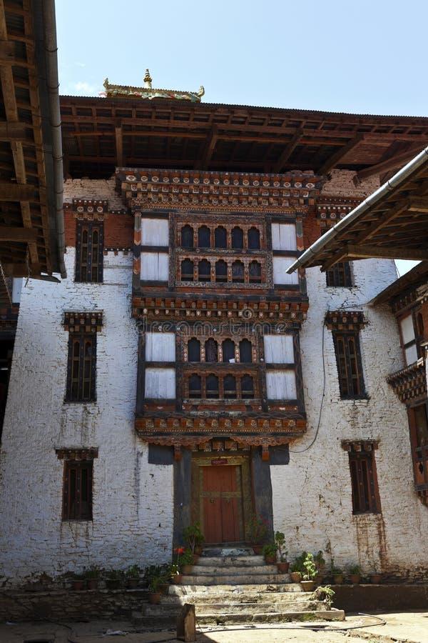 Lhuentse intérieur Dzong au Bhutan - en Asie orientaux photographie stock