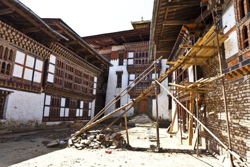 Lhuentse intérieur Dzong au Bhutan - en Asie orientaux photo stock