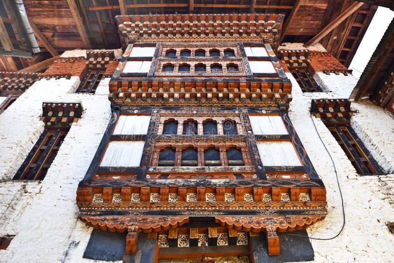 Lhuentse intérieur Dzong au Bhutan - en Asie orientaux photos libres de droits