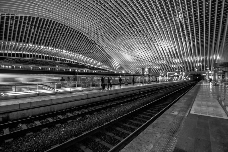 Liège - σταθμός Guillemins στοκ φωτογραφία