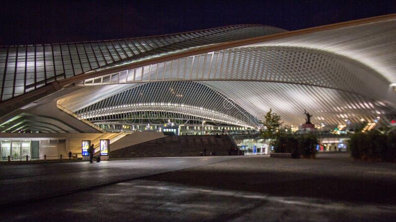 Liège - σταθμός Guillemins στοκ εικόνες