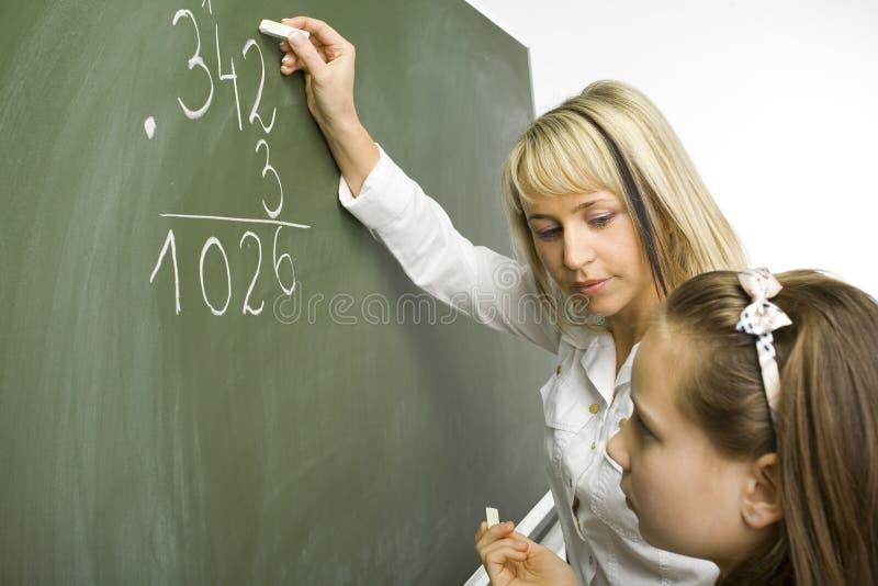 Lição das matemáticas fotografia de stock royalty free