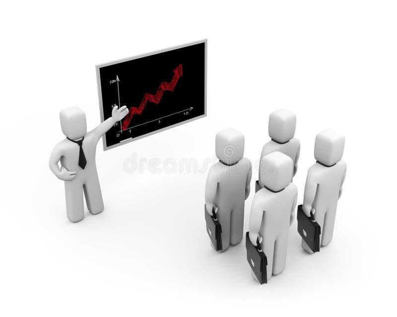 Lição do negócio. Melhoria da habilidade profissional ilustração stock
