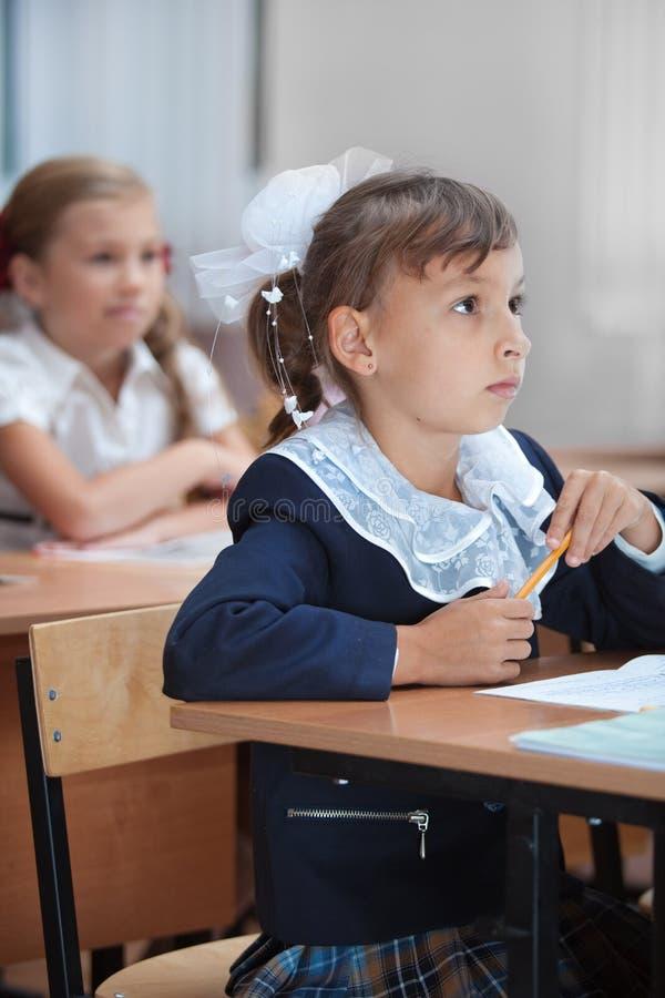 Lição na escola primária. foto de stock royalty free