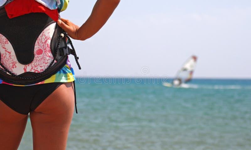 Lição Windsurfing fotos de stock royalty free