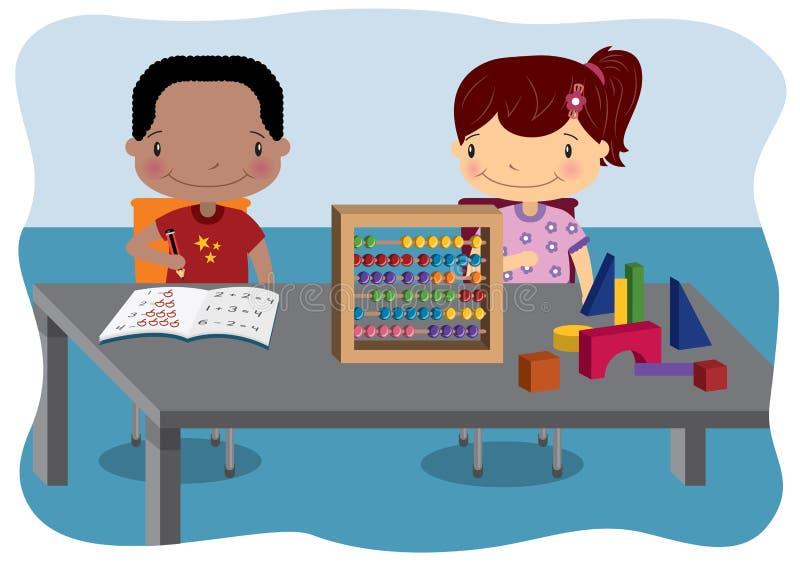 Lições da matemática das crianças ilustração royalty free