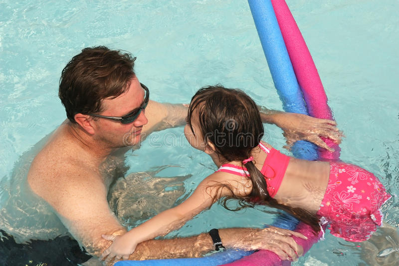 Lições da nadada fotografia de stock