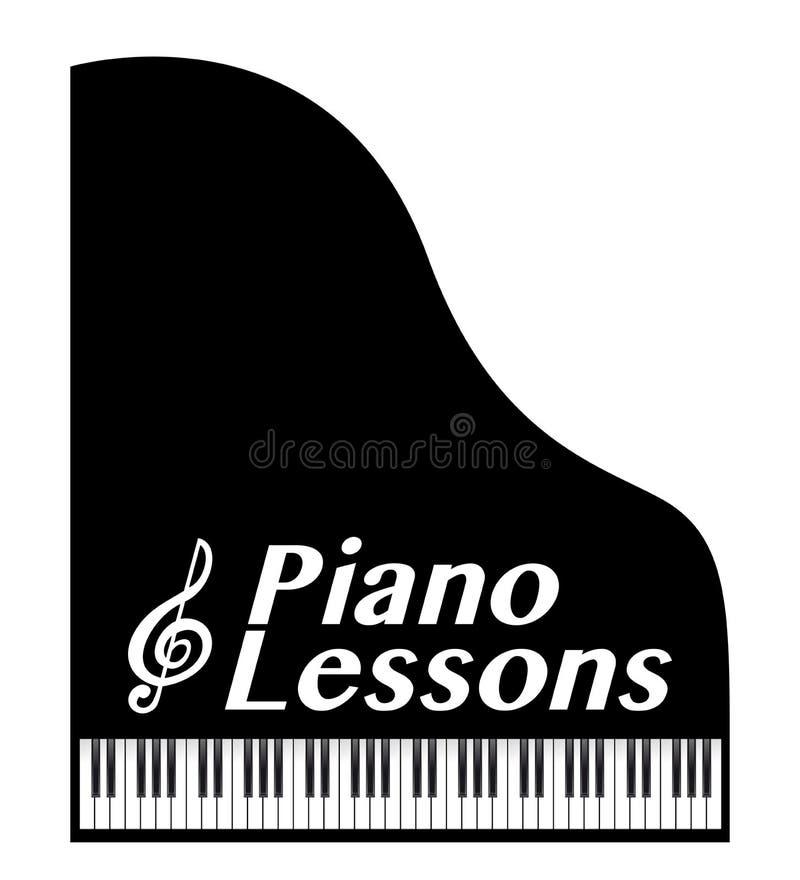 Lições de piano ilustração royalty free