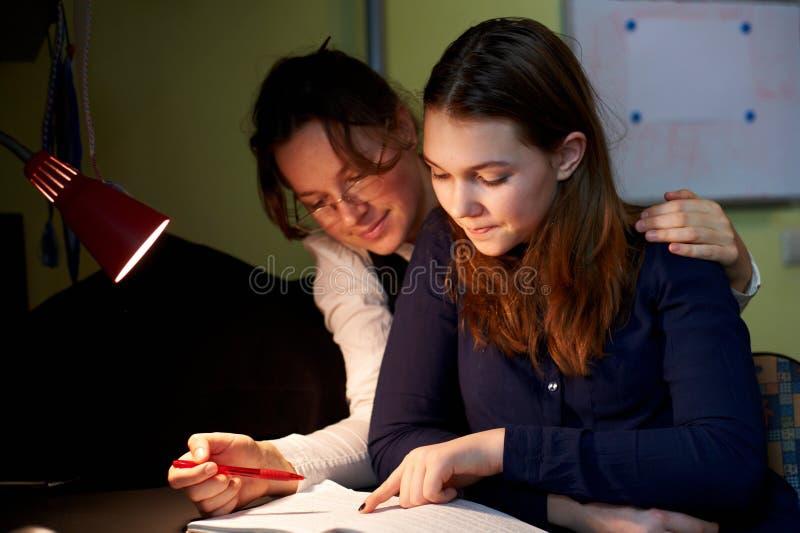 Lições de um tutor imagem de stock
