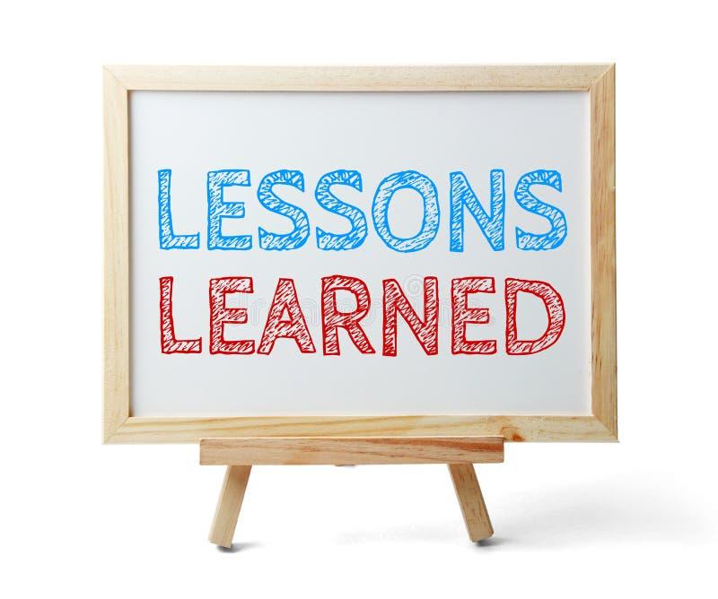 Lições instruídas foto de stock