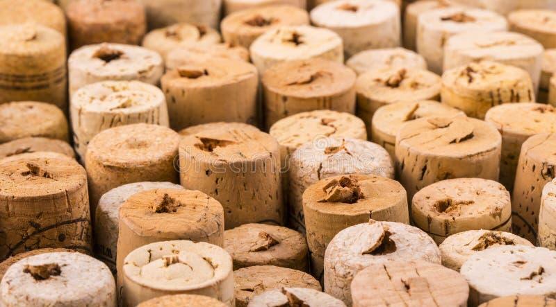 Liège de texture des bouteilles de vin images stock