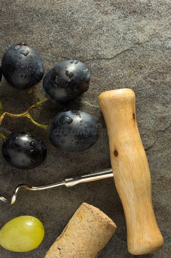 Liège de tire-bouchon et de vin photo libre de droits