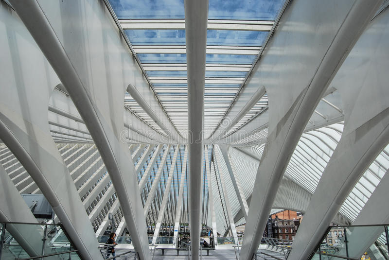 Liège-Guillemins railway station,Belgium stock photo