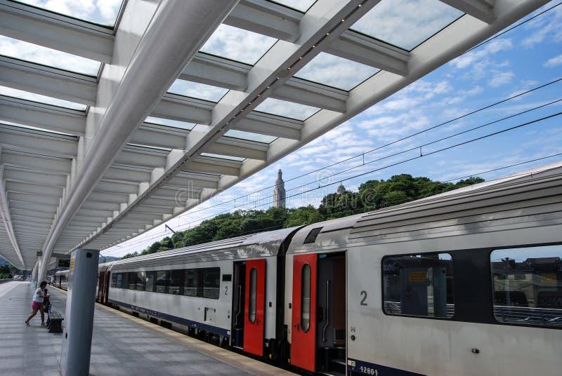 Liège-Guillemins railway station,Belgium royalty free stock photos