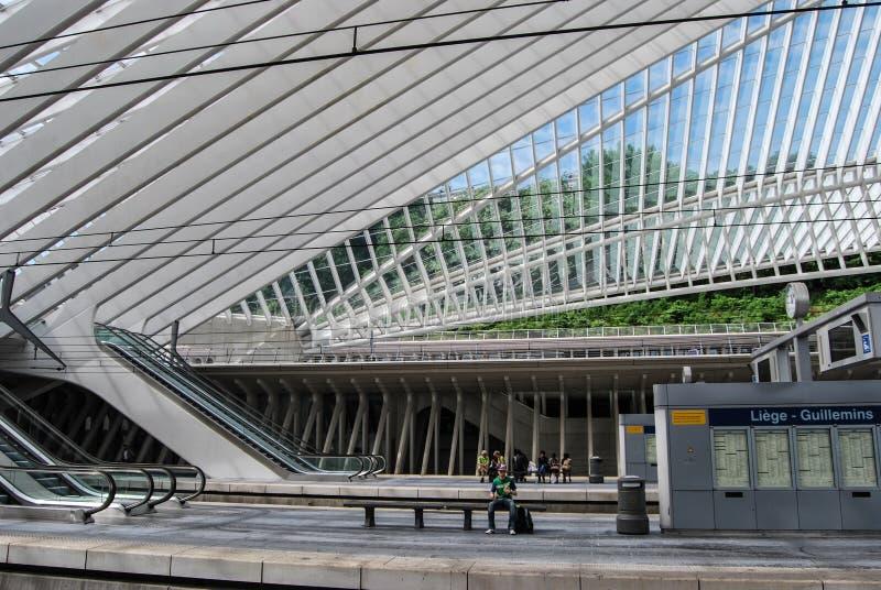 Liège-Guillemins railway station, Belgium stock image