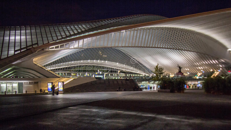Liège - Guillemins station. Liège-Guillemins station French: Liège-Guillemins is the main station of the city of Liege. The station is at the end of several stock images